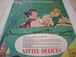 ANCIENNE PUBLICITE  VITTEL DELICES 1961 - Posters