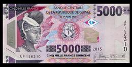 # # # Banknote Aus Guinea 5.000 Francs 2015 UNC # # # - Guinea