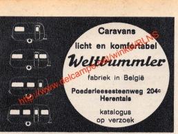 Weltbummler - Poederleesesteenweg Herentals - Campers Caravan - 1967 - Illustration 9x7cm - Camping