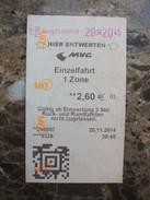 Germany MVG Ticket - Europa