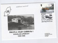 1999 DOUGLAS Special  FDC CARRIED BY LIFEBOAT Isle Of Man Stamps Cover - Isle Of Man