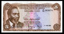 # # # Banknote Kenia (Kenya) 5 Schillingi 1969 # # # - Billets