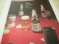 ANCIENNE PUBLICITE 1664 BIERE KRONENBOURG 1961 - Alcools