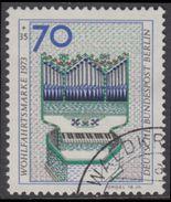 !b! BERLIN 1973 Mi. 462 USED SINGLE (k) - Musical Instruments: Organ - [5] Berlin