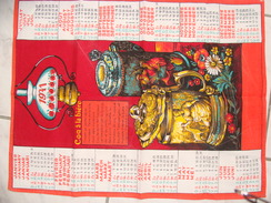 Calendrier (serviette, Tissu, Torchon 1971) - Recette Du Coq à La Bière - Serviettes Publicitaires