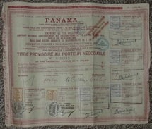 Titre Au Porteur, Cie Compagnie Universelle Du Canal Interocéanique De PANAMA, 1889, Bon/Action/Obligation Vignettes - Actions & Titres