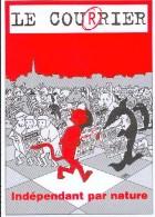 EXEM : Carte BD Annonce Pour Journal Suisse LE COURRIER - Cartes Postales