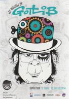 GOTLIB : Carte BD Annonce Pour Exposition MONDES DE GOTLIB - Cartes Postales