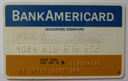 USA - Credit Card - Bank Americard - Wide - Early Predecessor Of VISA - Exp 01/76 - Mag 1A - Used - Credit Cards (Exp. Date Min. 10 Years)