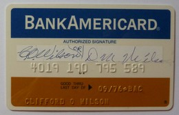 USA - Credit Card - Bank Americard - Narrow - Early Predecessor Of VISA - Exp 09/76 - Mag 1A - Used - Credit Cards (Exp. Date Min. 10 Years)