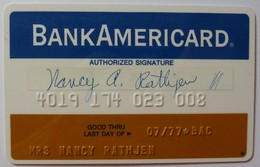 USA - Credit Card - Bank Americard - Narrow - Early Predecessor Of VISA - Exp 07/77 - Mag 1A - Used - Credit Cards (Exp. Date Min. 10 Years)