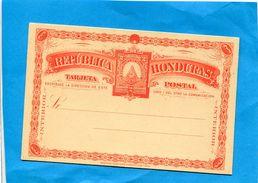 HONDURAS-Postal Stionary- Carte Neuve- Entier Postal-Républica 2c Rouge-interior--- Années 1865+ - Honduras