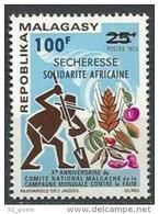 """Madagascar YT 530 """" Sécheresse - Solidarité Africaine """" 1973 Neuf** - Madagaskar (1960-...)"""