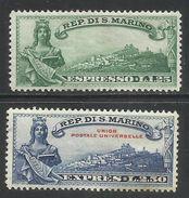 SAN MARINO 1929  ESPRESSI LIBERTA´ SPECIAL DELIVERY FREEDOM SERIE COMPLETA COMPLETE SET MNH - Eilpost