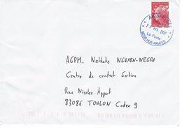 Rare Oblitération Militaire Bleu  AP SPID 262 Sur Timbre De Carnet Marianne De Beaujard (période Ciappa) - Marcophilie (Lettres)