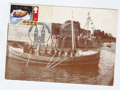 1985 Truro GB FDC LIFEBOAT (postcard 1900 Padstow Harbour, Ship ) Cover - Ships