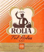 Etiket Etiquette - Wijn - Vin Rolia - Caboche - Rolin - Négociant à Lillers - Etiquettes