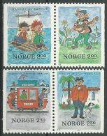 NORWEGEN 1984 MI-NR. 914/17 ** MNH - Norwegen