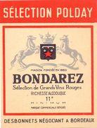 Etiket Etiquette - Wijn - Vin Bondarez - Desbonnets Négociant à Bordeaux - Etiquettes