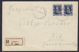 Yugoslavia Croatia 1948 Zagreb Fair, Letter Ljubljana - Nis - 1945-1992 Socialist Federal Republic Of Yugoslavia