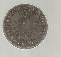 Monnaie , Brésil , Brasil , 100 Reis , MCMI , 1901, 2 Scans - Brasil