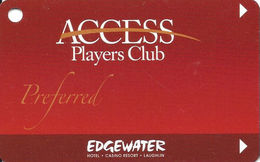 Edgewater Casino - Laughlin, NV - BLANK Players Club Slot Card - Casino Cards