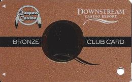 Downstream & Quapaw Casinos - Quapaw, OK - BLANK 2nd Issue Slot Card - Large Q W/Reg Marks In Logos - Casino Cards