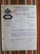 21 Nuits St Georges 78 Versailles Lucien Legras & Cie Fabrique De Cassis Marc De Bourgogne - Factures