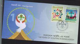 O) 2016 BANGLADESH, SCOUTS- SYMBOLS OF THE SCOUTING-FDC DHAKA GPO, FDC XF - Bangladesh