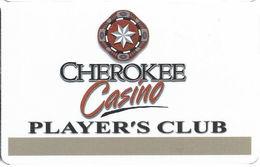 Cherokee Casino BLANK Players Club Card - Casino Cards
