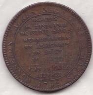 Monneron . 5 Sols 1792 An IV, Position B , Variété Sans Le Point - 1789 – 1795 Monete Costituzionali