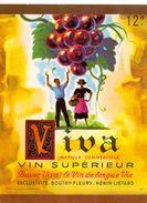 Etiket Etiquette - Wijn - Vin - VIVA - Boutry - Fleury à Hénin - Liétard - Etiquettes