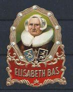 Sigaren Etiket.- ELISABETH BAS. 2 SCANS - Sigarenbandjes