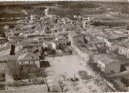Cpm 30 VERGEZE  Place De La République Et Le Village  Vue Aérienne , 1956 - Vergèze