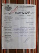 75 PARIS 21 Nuits St Georges 78 Versailles Les Distilleries LUCIEN LEGRAS & CIE - Factures