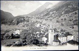 SUISSE  SWISS  SALVAN VALAIS VUE GENERALE VOYAGE 1912 - VS Valais