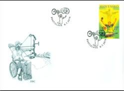 FDC 616 Slovakia Paralympic Games Rio De Janeiro  2016 Tablr Tennis Cycling Archery - Eté 2016: Rio De Janeiro