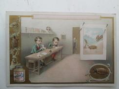 CHROMO LIEBIG  Le Lièvre Et La Tortue - Les Cocottes En Papier - Liebig