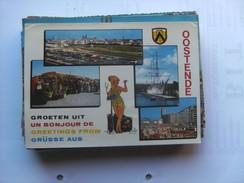 België Belgique West Vlaanderen Oostende Met Stadswapen En Dame - Oostende