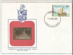FDC 1979 Barbados International Postal Collectors League,Ship,VF - Barbados (1966-...)