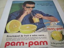 ANCIENNE PUBLICITE JUS DE FRUIT EN BOITE PAM PAM 1961 - Affiches