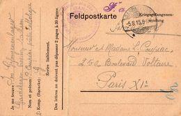 TB 2218 - MILITARIA - Carte En Franchise Militaire - Prisonnier COUPIAC Au Camp De GARDELEGEN Allemagne Pour PARIS - Marcophilie (Lettres)
