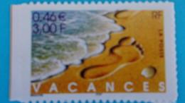 Timbre Autoadhésif : No,29,Bonnes Vacances ,venant De Carnet,, Timbre En Très Bon état - France