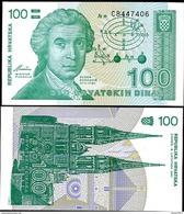 Croatia 100 Dinars 1991 UNC - Kroatië