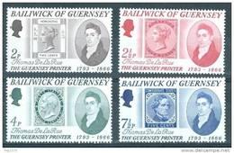 GUERNSEY 1971 THOMAS DE LA RUE Yvert 49/52 - Timbres Sur Timbres