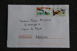 Timbres Sur Lettre De MURVIEL à ANGERS - France