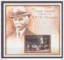 0334 Aitutaki Cook Island 2000 Olympic Flame S/S MNH - Zomer 2000: Sydney