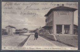 Carte Postale 13. La Couronne-Carro  La Gare  Nouvelle Ligne Chemin De Fer L'Estaque à Miramas    Trés Beau Plan - Autres Communes