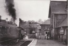 Railway Photo Card LMS Stanier 4P 42639 Grosmont 1961 2-6-4T Loco Malton Train - Reproductions