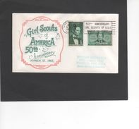 SCOUTISME / GIRL SCOUT OF AMERICA /FDC 1962/ 50th  ANNIVERSARY ( REF 460) - Scoutisme